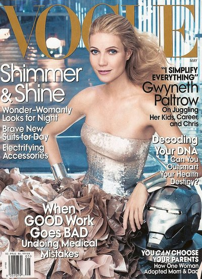 Vogue&#039;s May Issue Features Iron Man&#039;s Gwyneth Paltrow