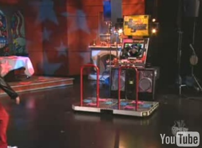 Stephen Colbert in a Dance Dance Revolution Dance-Off!
