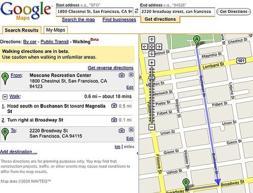 Daily Tech: Now Get Walking Directions With Google Maps