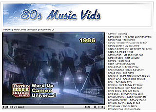 Website of the Day: '80s Music Vids