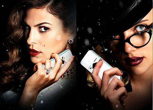 Scarlett Johansson and Eva Mendes Push Cell Phone Recycling for Their Movie The Spirit
