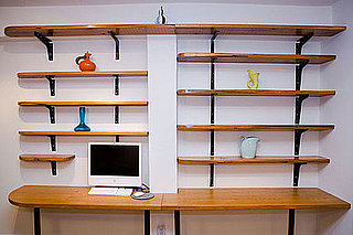 Cool Computer Desk Idea: A Bookshelf
