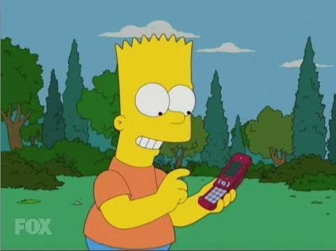 Bart Simpson Gets a Cell Phone on The Simpsons