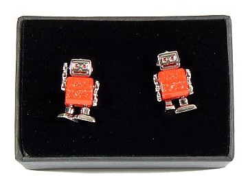 Robot Cufflinks: Totally Geeky or Geek Chic?