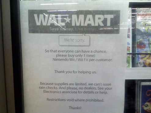 Daily Tech: Wal-Mart Caps Wii Limit at One Per Person