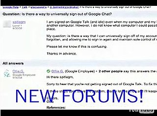 Google Introduces New Help Forums
