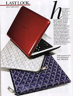 Goyard Laptop Bags Featured in January 2009 Issue of Vogue
