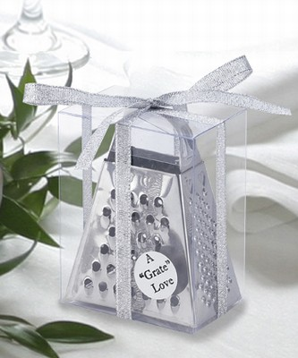 "You'll have the ""gratest"" wedding with this cheese grater."