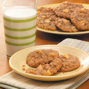 Add more fruit to your diet with these Chewy Apple Oatmeal Cookies.
