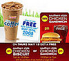 McDonald's to Give Away Eight Million Chicken Sandwiches, Dunkin' Donuts Gives Away Iced Coffee