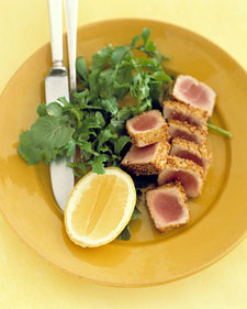 Monday's Leftovers: Tuna with Mustard Seed Crust