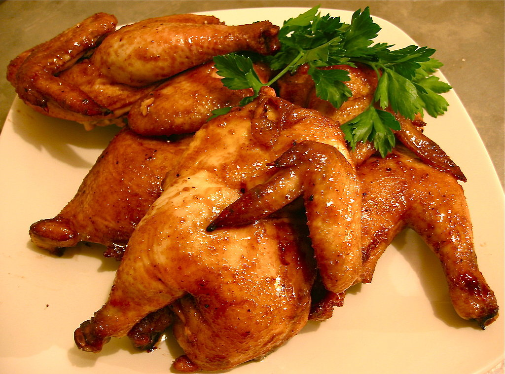 Honey and Cumin-Glazed Cornish Hens
