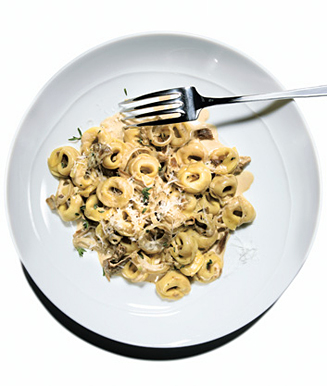 Monday's Leftovers: Tortellini With Mushroom Sauce