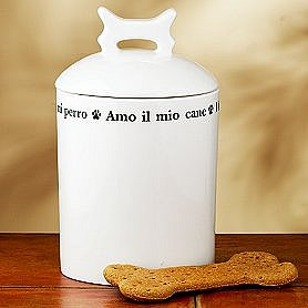 Ceramic Dog Treat Jar ($15)