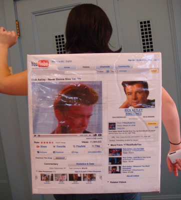 How to Be A Real Life Rick Roll for Halloween