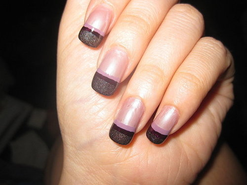 DIY Fancy French Manicure