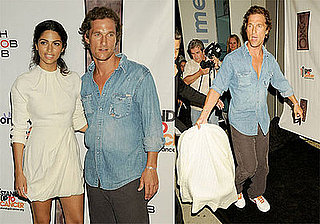 Photos of Matthew McConaughey, Camila Alves, and Levi McConaughey at Kitson
