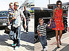 Photos of the Beckham Family at LAX Before David Appears at Olympics Closing Ceremony