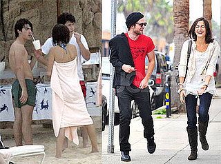 Photos of Camilla Belle With Robert Pattinson and Shirtless Joe Jonas