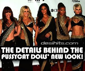 Pussycat Dolls at Fashion Rocks in Sarees