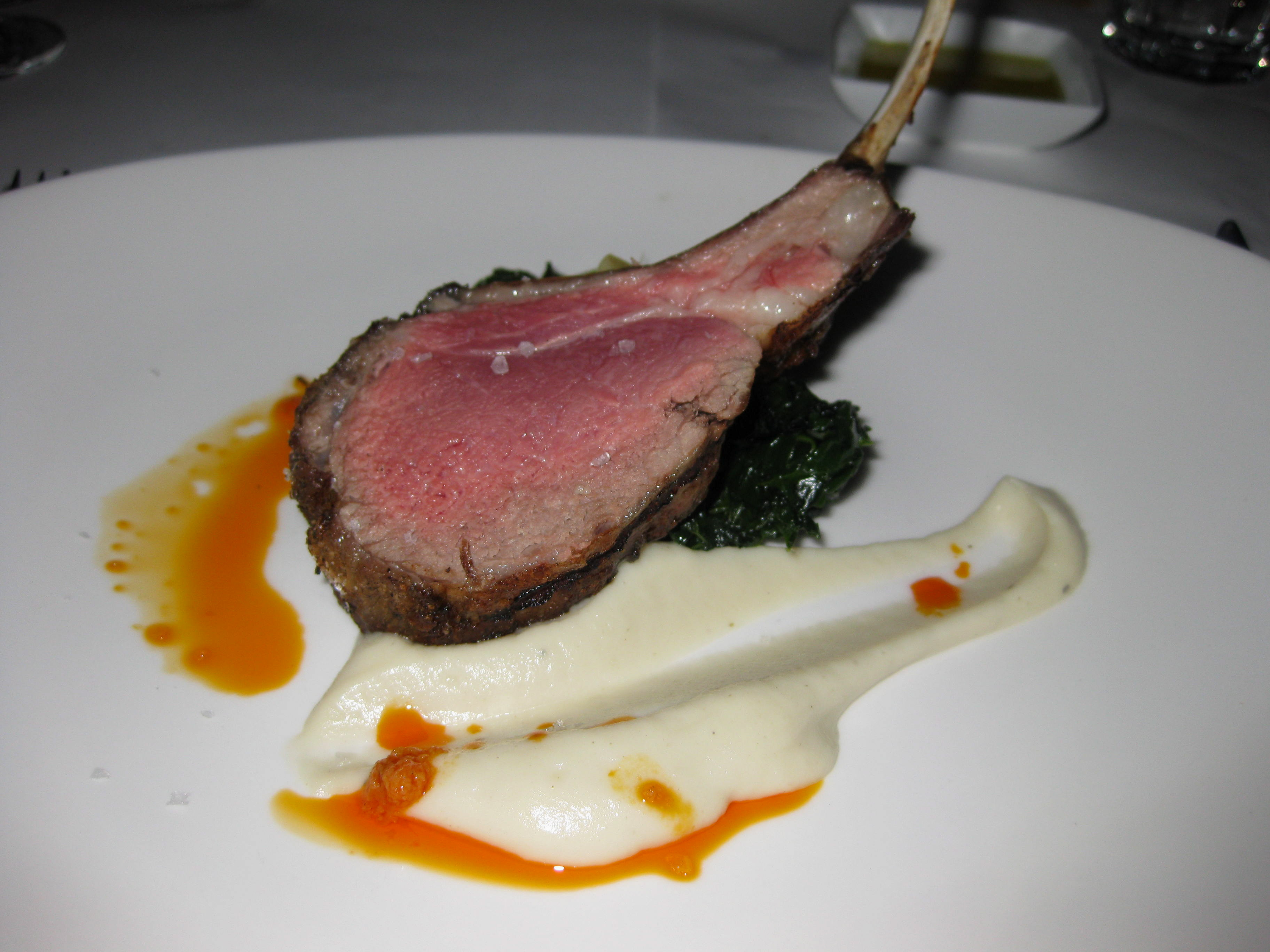 Rack of Lamb: The crispy skin, tender meat and pure flavor of lamb lingers long after this dish is consumed.