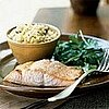 Fast &amp; Easy Dinner: Honey-Ginger Glazed Salmon with Arugula Salad