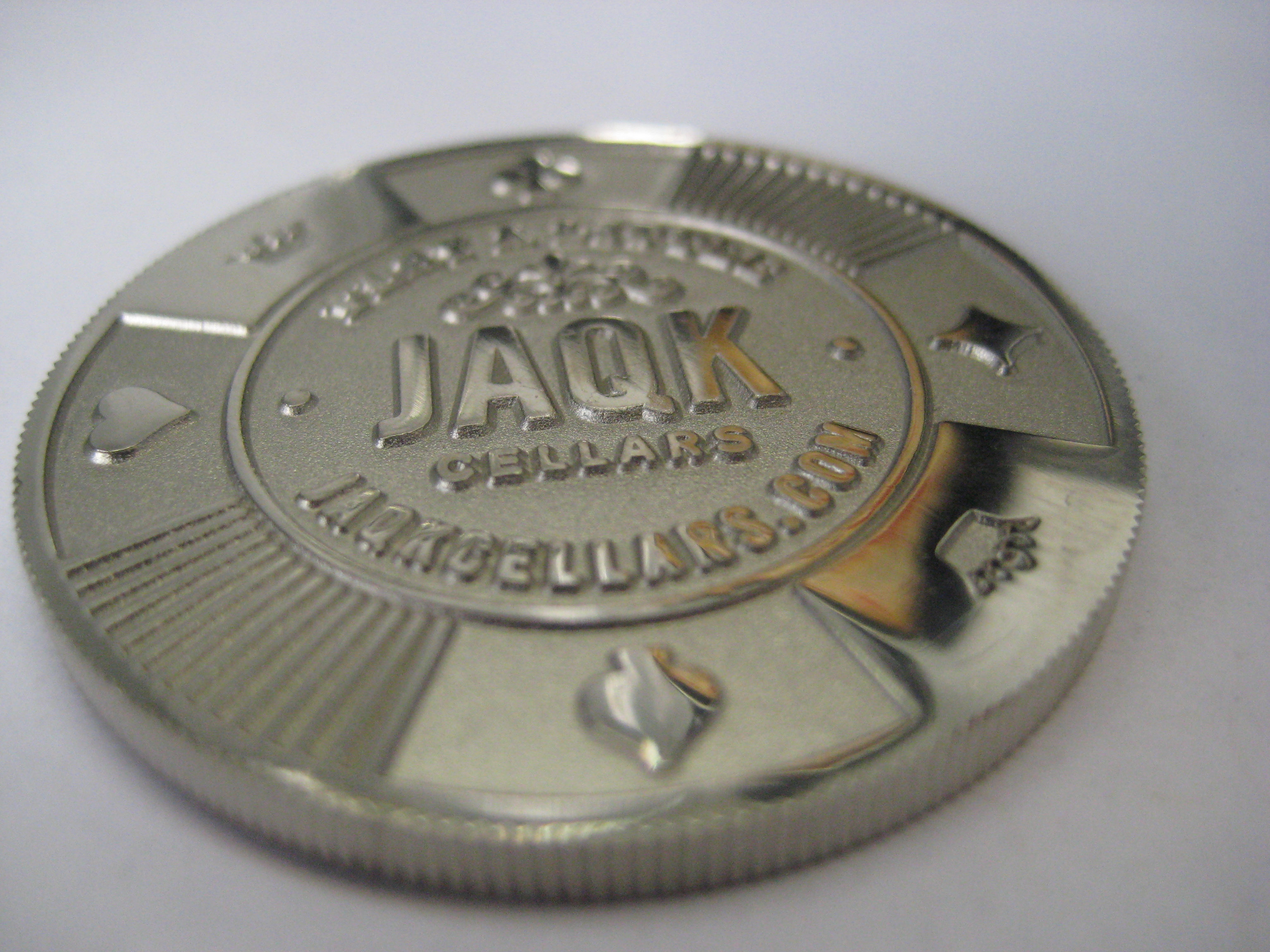 Instead of having a regular business card, founder Joel Templin gives out poker chips.