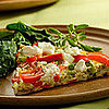 Fast &amp; Easy Dinner: Red Pepper and Goat Cheese Frittata