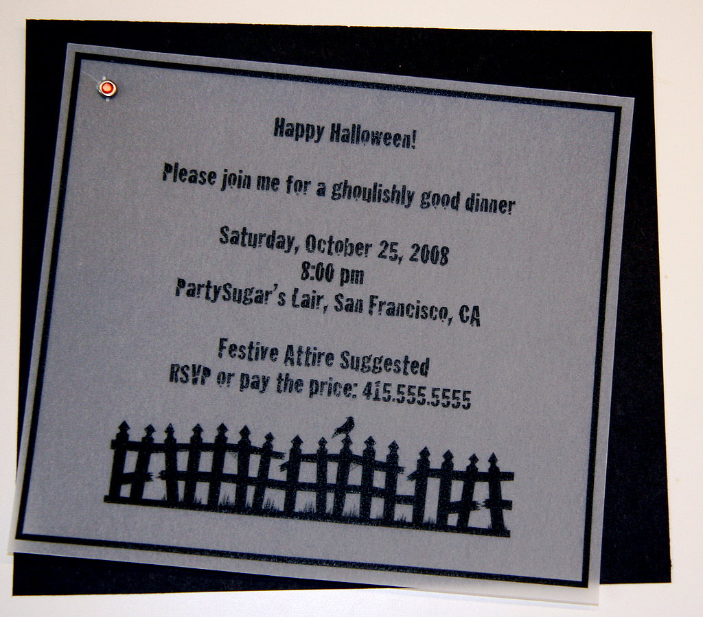 Halloween Dinner Invite: Step by Step