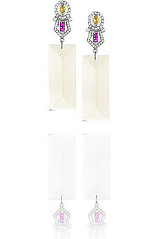 Mawi Acrylic droplet earrings (SALE: $80)| NET-A-PORTER.COM