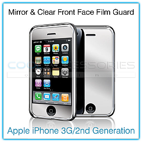 Cool Accessories Online - Mirror/Clear Front Protective Film Guard for Apple iPhone 3G
