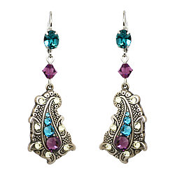 Paisley Peacock Drop Earrings ($63) : :��T A R I N A���T A R A N T I N O��: :