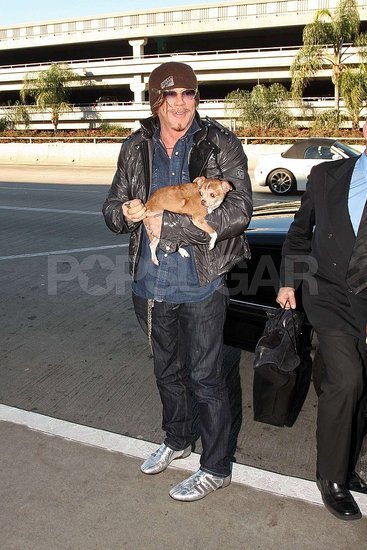 In the Spotlight: Mickey Rourke and Loki Leave LA