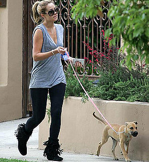 Pound Puppy Chloe (and LC) Take an LA Walk