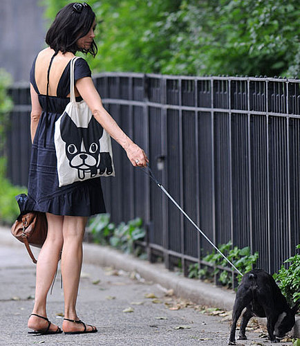 Found! Famke Janssen and Licorice Love Luna, Too!