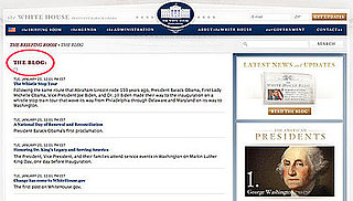 Briefing Book! Obama and Blog Come to White House Website