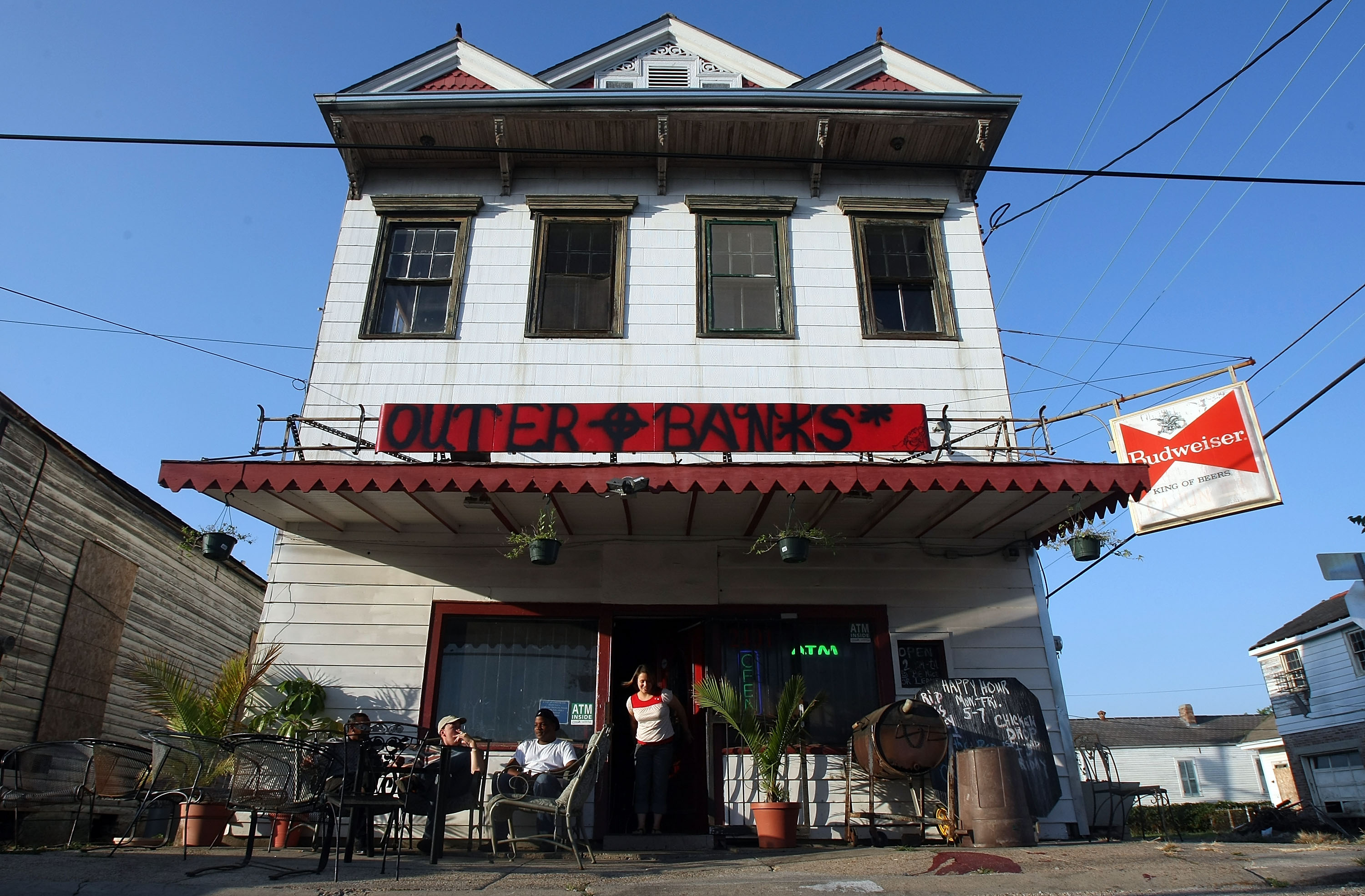 A bar next to Charity Hospital in New Orleans, Louisiana.