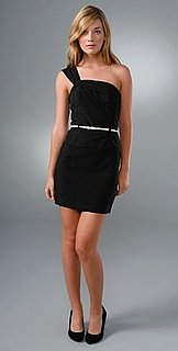 The Look For Less: Black Halo One-Shoulder Mini Jackie