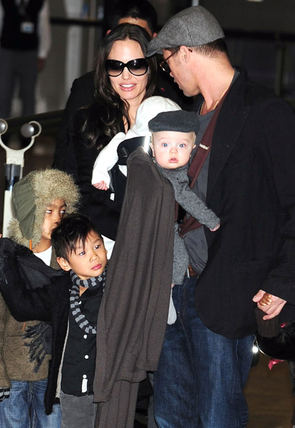 Mini Mes: Angelina and Vivienne & Brad and Knox