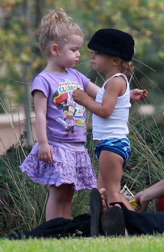 Kingston Rossdale Kicks it at the Park