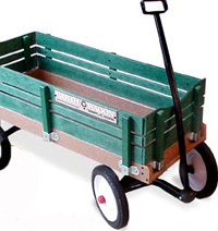 Recycled Plastic Radio Flyer Earth Wagon ($150)