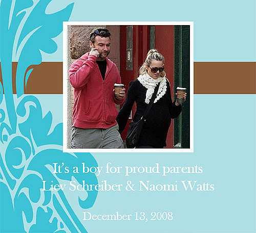It's a Boy For Naomi Watts and Liev Schreiber!