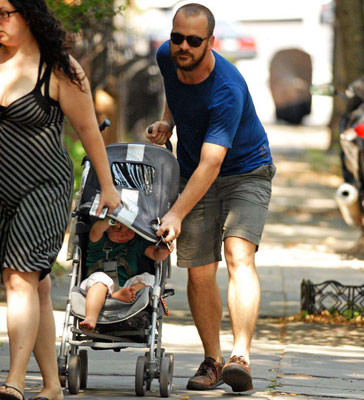 The Sarsgaard Duo Strolls in Brooklyn