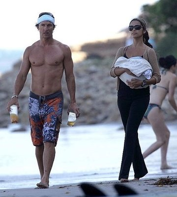 The McConaughey Clan Sweeps the Beach