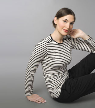 Boob Striped Nursing Shirt ($85)