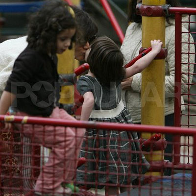Smooches For Suri and Katie in NYC