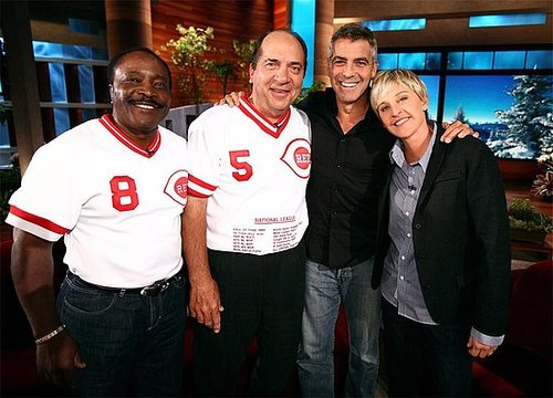 Ellen finally cought George Clooney!