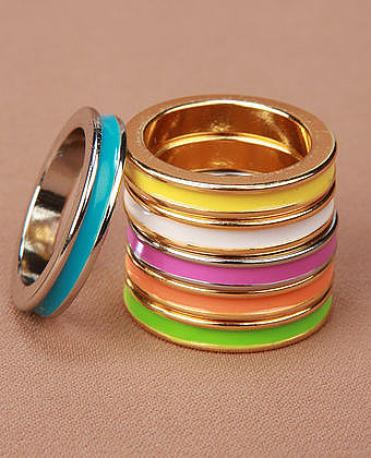 Stacked Rainbow Rings - $14.00 : Womens Clothing, Trendy Clothing, Womens Shoes, T Shirt, Womens Skirt, Jeans and Prom Dresses a