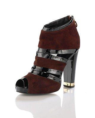 CUSP | Shoes | New Arrivals | Cutout Suede Bootie