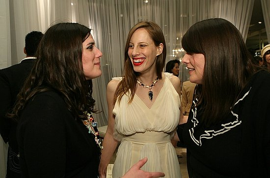 April 2007, with Liz Goldwyn at a Rodarte cocktail party at Neiman Marcus